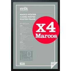 Pack de 4 Marcos Negro para Maxi Posters 61x91,5 cms