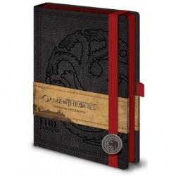 Cuaderno A5 Premium Juego de Tronos Targaryen