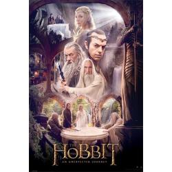 Poster The Hobbit Concilio Blanco