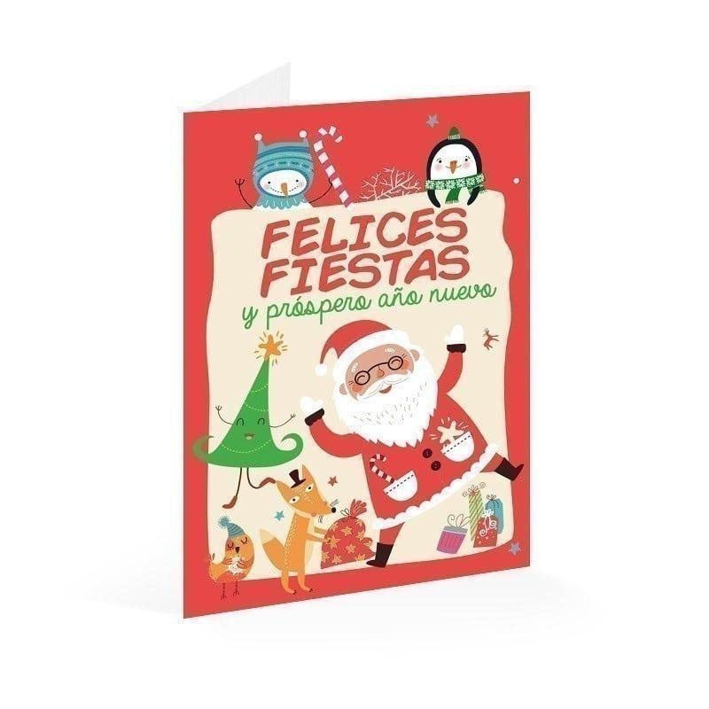 Tarjeta felicitacion felices fiestas y prospero a o nuevo - Tarjetas felicitacion navidad ...