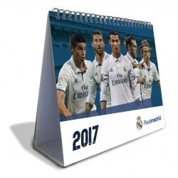 Calendario Sobremesa Deluxe 2017 Real Madrid