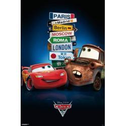 Poster Cars 2 Señales Ciudades