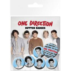 Pack De Chapas One Direction Blanco y Negro