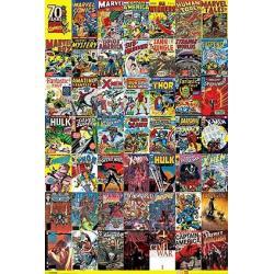 Poster Marvel Portadas 70 aniversario