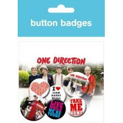 Pack Chapas One Direction Album