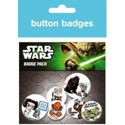Pack Chapas Star Wars Characters