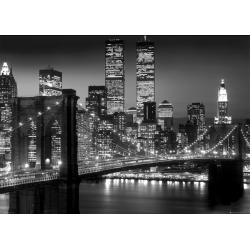 Poster Gigante New York Brooklyn Bridge Night