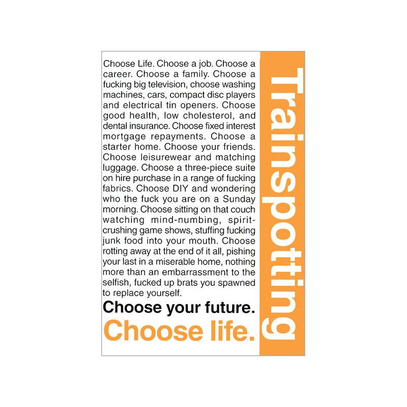 Trainspotting Poster Quote Maxi Poster Trainspotting