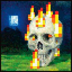 Maxi Poster Minecraft Flaming Skull