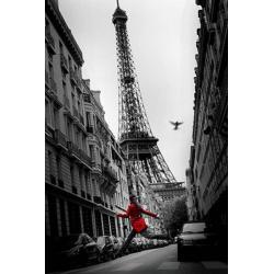 Poster Paris Red Coat
