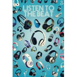 Poster Escuchando con Beat