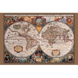 Maxi poster mapa del mundo siglo XVII