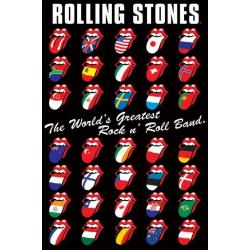 Poster Rolling Stones Lenguas Internationales