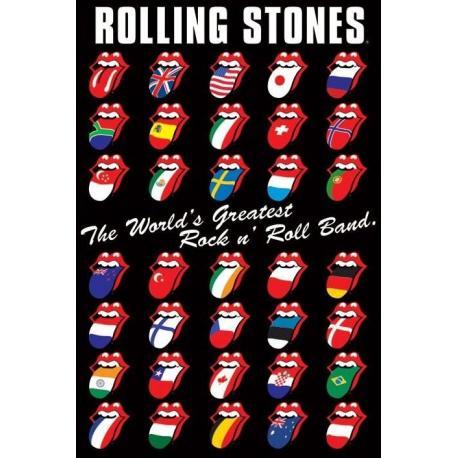 Poster Rolling Stones Lenguas Internationales
