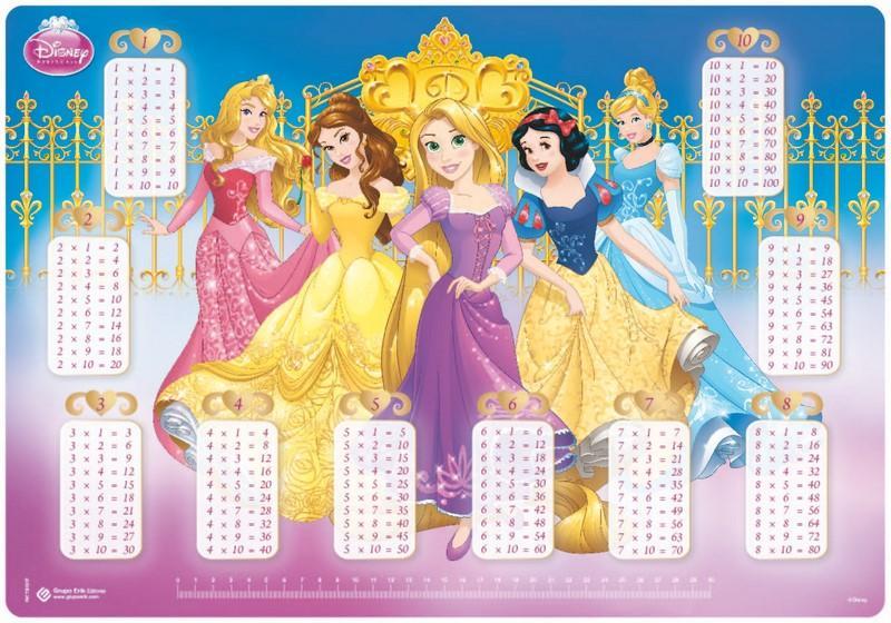 Vade Escolar Disney Princesas Palace Pets Tabla De Multiplicar ...