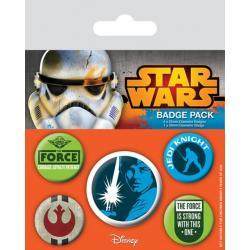 Pack de Chapas Star Wars Jedi