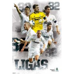 Poster Real Madrid Campeones 32 Ligas