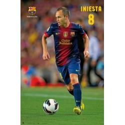 Poster F.C. Barcelona Iniesta