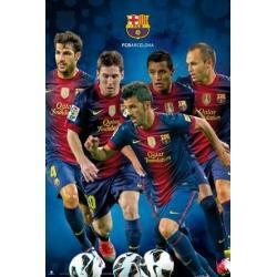 Poster F.C. Barcelona Varios Jugadores 2012-2013