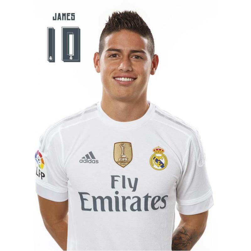 La postal Real Madrid James Rodriguez 2015/2016 con licencia oficial ...