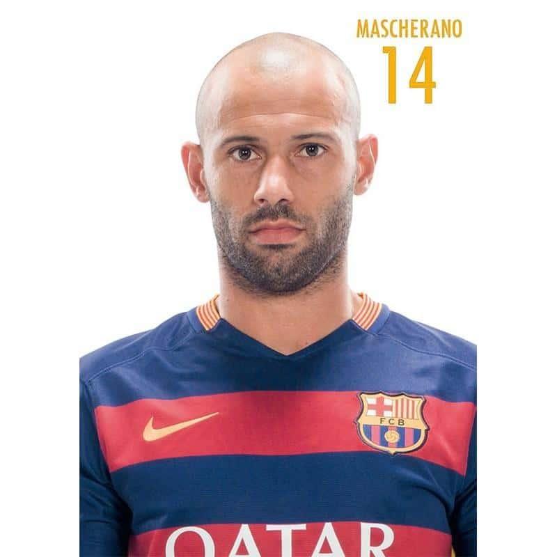 Barcelona Mascherano  Con Licencia Oficial En Nosoloposters