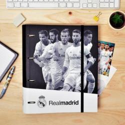 Carpeta 4 Anillas troquelada Real Madrid