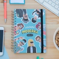 Agenda Escolar Semana Vista 2016/2017 Moderna De Pueblo