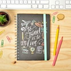 Cuaderno Tapa Forrada Premium A5 Lily & Val