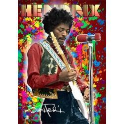 Poster 3D Jimi Hendrix Colour
