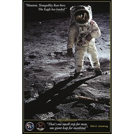 Poster Caminata en la Luna