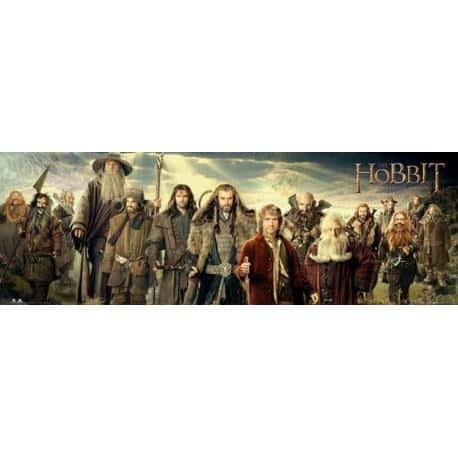 Poster Puerta El Hobbit Cast