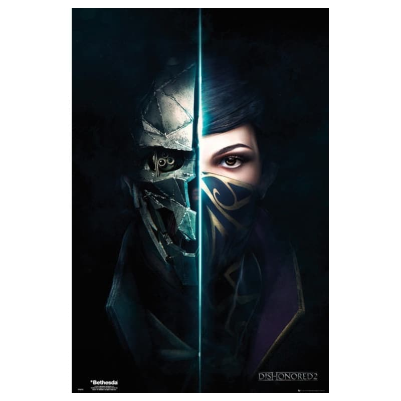 Dishonored 2 Caras - Nosoloposters.com