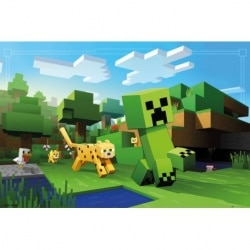 Maxi Poster Minecraft Ocelot Chase