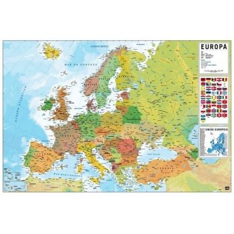 Poster Mapa Europa Pt Fisico Politico