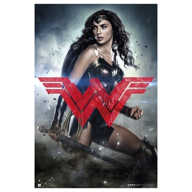 Poster batman v superman wonder woman glyph for Puerta wonder woman