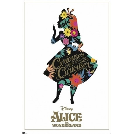 Poster Alice In Wonderland Silhouette
