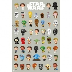 Poster Star Wars 8-Bit Characters