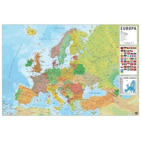 Poster Mapa Europa Es Fisico Politico