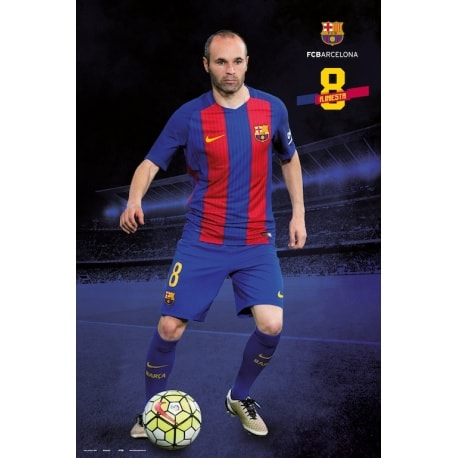 Poster Fc Barcelona 2016/2017 A. Iniesta Pose