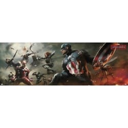 Poster Puerta Marvel Captain America Civil War