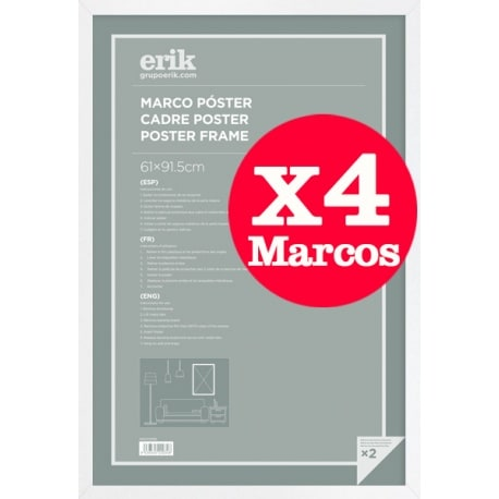 Pack de 4 Marcos Blanco para Maxi Posters 61x91,5 cms