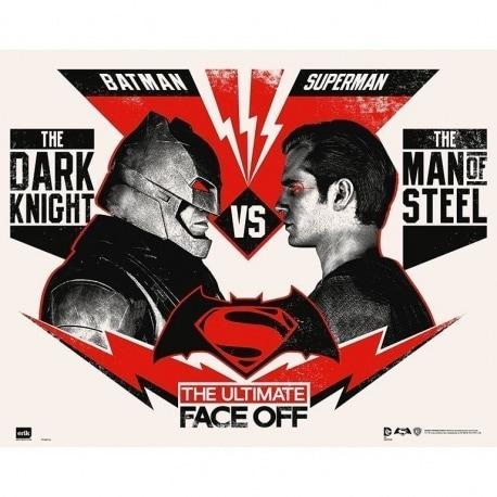 Mini Poster Batman V Superman Ultimate Face Off