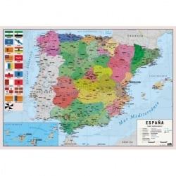 Vade Protector de Escritorio Escolar Mapa España