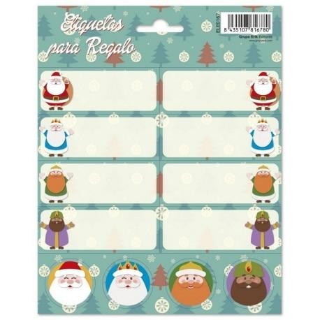 Etiquetas Escolares Navidad Reyes Y Santa Pinitos