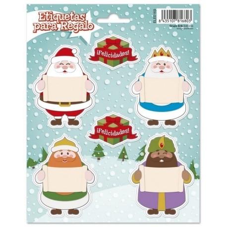 Etiquetas Navidad Reyes Y Santa Stickers