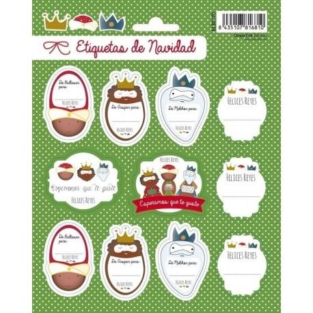 Etiquetas Navidad Felices Reyes