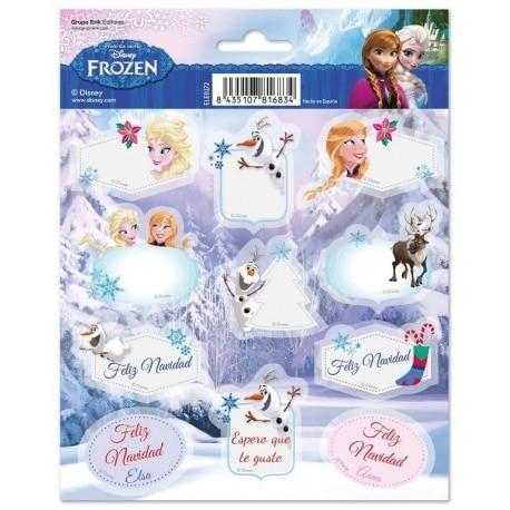 Etiquetas Navidad Frozen