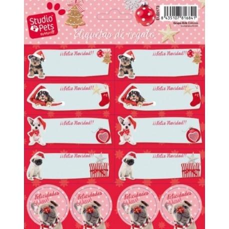 Etiquetas Navidad Studio Pets Dog