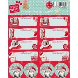 Etiquetas Navidad Studio Pets Cat