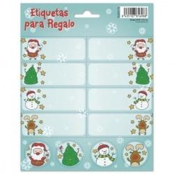 Etiquetas Navidad Santa Cartoon